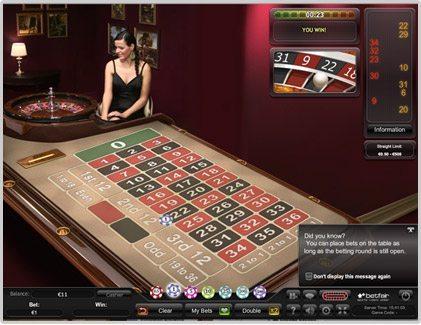 betfair live casino roulette
