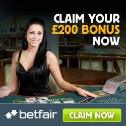 Betfair Live Casino Promo Code Bonus
