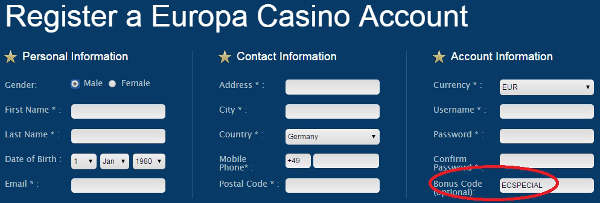 Europa Casino Live Dealer Casino Review